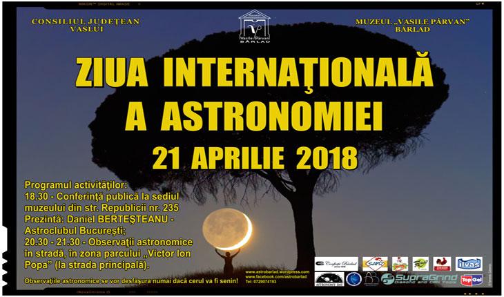 Ziua Internațională a Astronomiei serbată la Bârlad