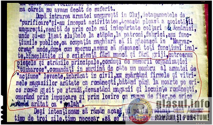 Document scris in 1941 de profesorul Ioan Văleanu, refugiat din Cluj la Turda, Foto: stirea.wordpress.com