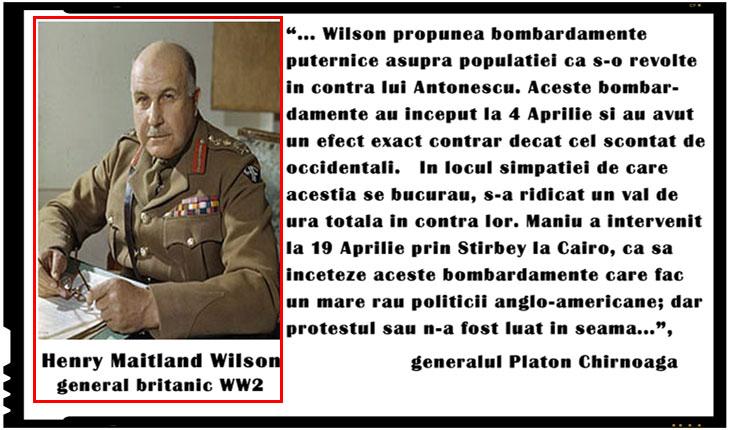 Generalul britanic Henry Maitland Wilson si rolul jucat in evenimentele din 1944 din Romania