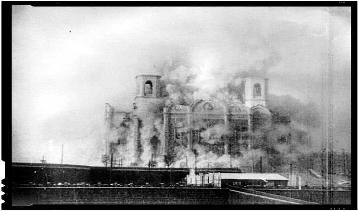 Catedrala crestina demolata la Moscova la 5 decembrie 1939