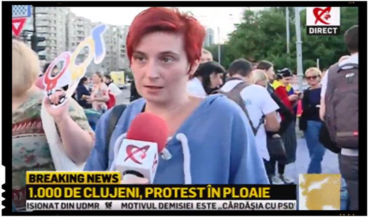Cine a lăsat #rezistenții în stradă? O protestatară euforică recunoaște că Dragnea este condamnat politic!, Foto: captura video Realitatea TV