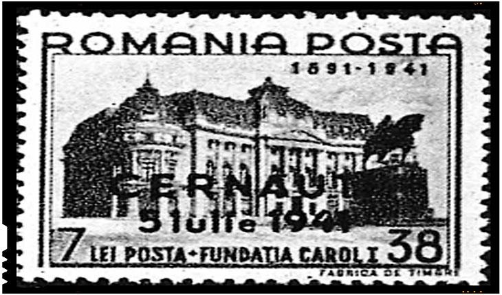 La 5 iulie 1941 Armata Română a eliberat orașul Cernăuți, Foto: Timbru dedicat eliberării Cernăuțiului