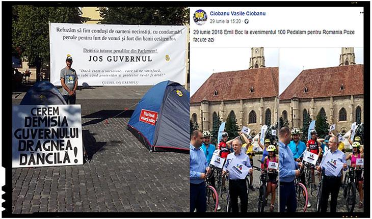 """Anticorupția selectivă: deși Emil Boc a """"condus"""" cele catastrofale guverne și a băgat mâna neconstituțional în buzunarele pensionarilor români, împotriva ăstuia n-au nimic #Rezistenții, Foto: facebook.com/vasile.ciobanu.33"""