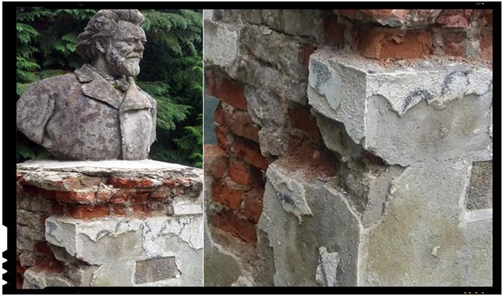 Statuia lui Ion Creanga dintr-un parc din Sinaia, Foto: facebook.com/profile.php?id=100011088699268