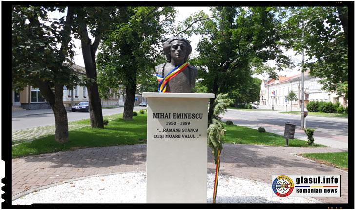 Statuia lui Mihai Eminescu de la Carei, 17 iunie 2018