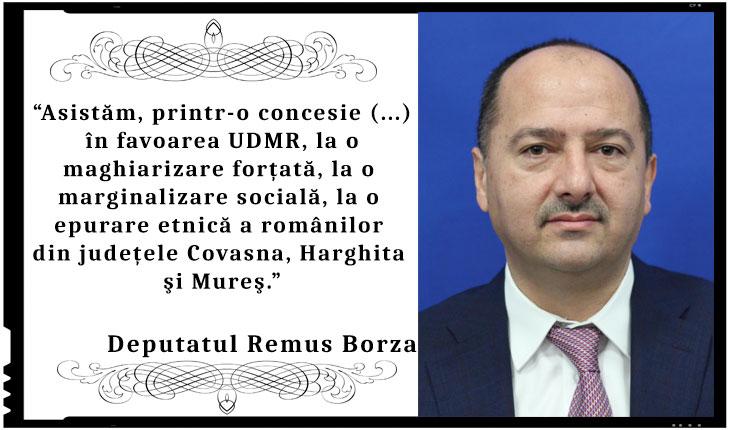 """Deputatula Remus Borza: """"Risc de maghiarizare a românilor din Ardeal! Asistăm, printr-o concesie în favoarea UDMR, la o maghiarizare forţată"""""""