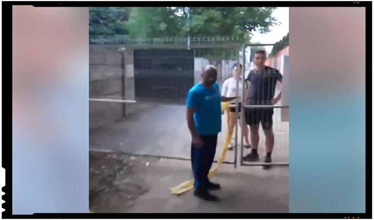 (VIDEO) Politică de apartheid la Satu Mare? Românii interziși într-un spațiu public din localitate!, Foto: facebook.com/zimbru.ovidiu