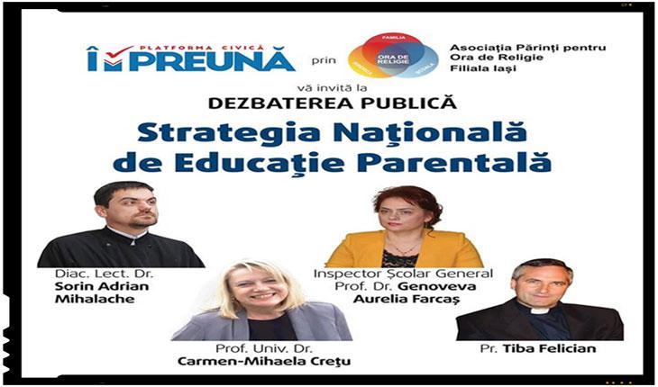 """Din aberațiile Strategiei naționale de educație parentală: """"Familia în societatea actuală are nevoie din ce în ce mai mult de SPRIJIN EXTERN pentru a se adapta acestor cerințe""""!?, Foto: facebook.com/AporIasi/"""