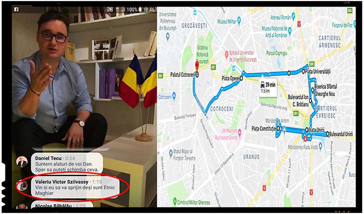 Într-o transmisiune live pe Facebook a jurnalistului Dan Tanasă, am remarcat și noi faptul căValeriu Victor Szilvassy a afirmat că va veni și el să sprijine inițiativa românilor, deși el este etnic maghiar.