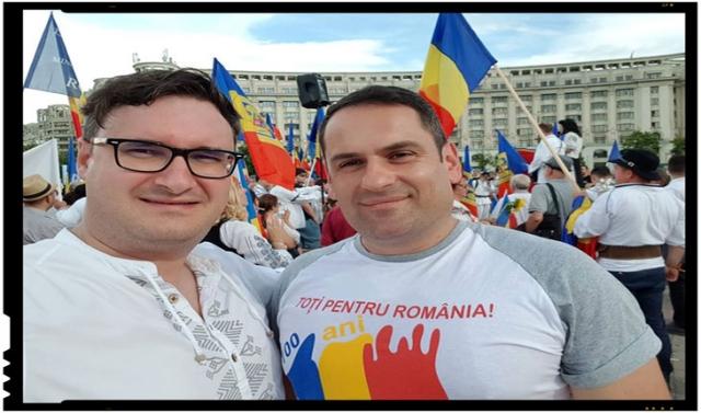 Un maghiar din România a participat la marșul de protest împotriva oficializării limbii maghiare în administrația românească, Foto: facebook.com/valeriu.szilvassy