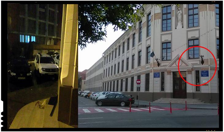 Neglijență sau antiromânism la o instituție de învățământ din Satu Mare? Steagul României aruncat pe jos de pe clădirea unui liceu maghiar, Foto: Alexandru Cosma