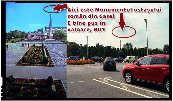 Apel către mai marii țării pentru salvarea Monumentului Ostaşului Român de la Carei