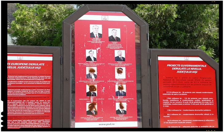 Vandalism cu repetiție la sediul PSD Iași