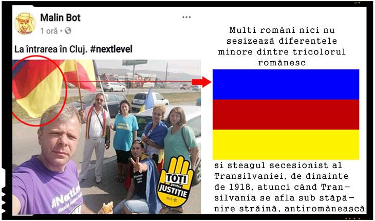 Despre faptul că protestul de la București din Piața Victoriei îmbracă în unele cazuri și o formă anticonstituțională, de susținere și promovare a unor mesaje de autonomie / secesiune teritorială, au mai sesizat și alți internauți în zilele premergătoare protestului, publicând imagini din timpul turneului de promovare al lui Mălin Bot prin țară și în afara ei.