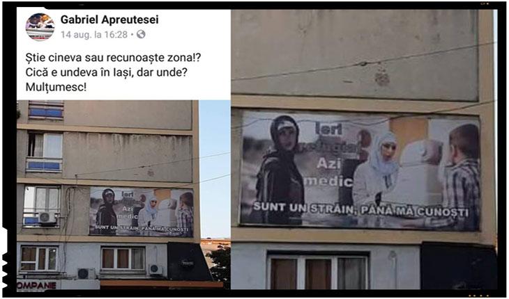 Rând pe rând, românii din orașele mari ale țării își alertează prietenii de pe rețelele de socializare cu privire la apariția acestor afișe cefac parte dintr-o campanie media pentru acceptarea refugiaților / imigranților, în orașele lor de reședință.