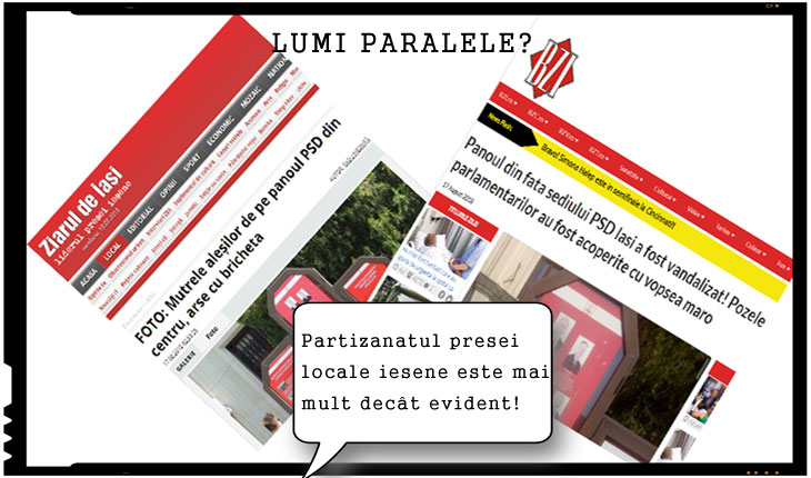 Versiuni paralele ale aceleiași știri pot fi fi citite în presa locală ieșeană.