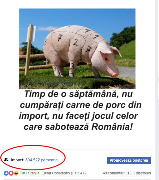 """Inițiem campania """"O săptămână fără de carne de porc de import""""!"""