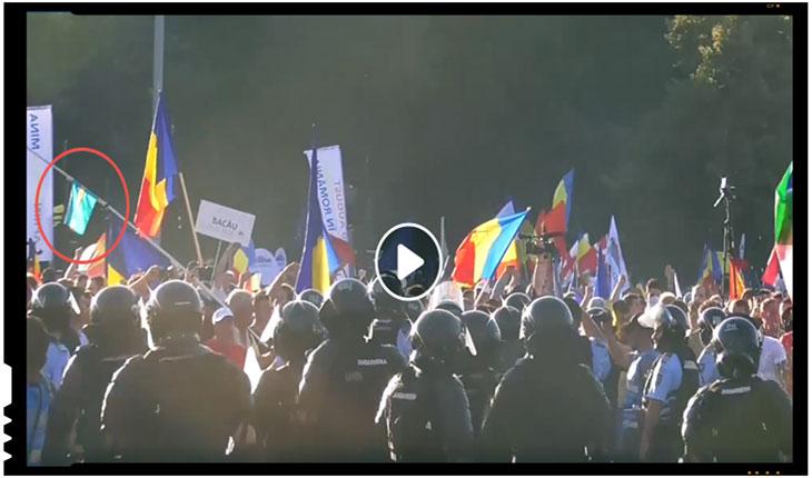 Așadar, pe lângă faptul că este neautorizat, protestul îmbracă mai nou și forme anticonstituționale, fiind prezente și mesaje prin care se fac revendicări îndreptate împotriva ordinii constituționale din România.