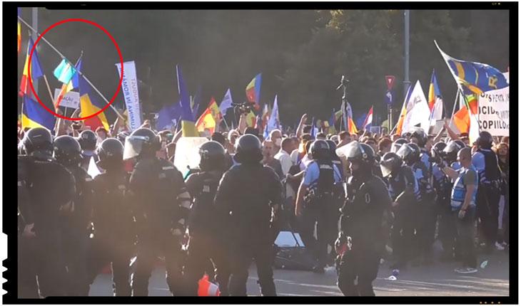Secesioniștii maghiari au participat la protestul din Piața Victoriei?, Foto: captura video Jandarmeria Română