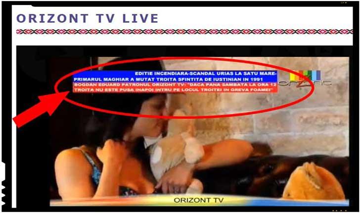 """Bogdan Eduard, patronul Orizont TV: """"Dacă până sâmbătă la ora 12 troița nu este pusă inapoi, intru pe locul troitei in greva foamei"""", foto: Orizont TV"""
