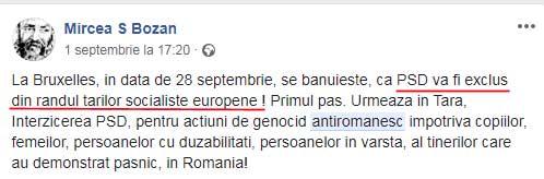 Dorința verii în 2018 pentru opoziție: excluderea PSD din PES