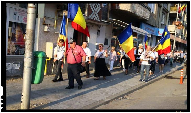Discriminare clară la Satu Mare: manifestările românești înghesuite pe trotuar, cele maghiare pot ocupa toată strada, Foto: facebook.com/profile.php?id=100013109268048