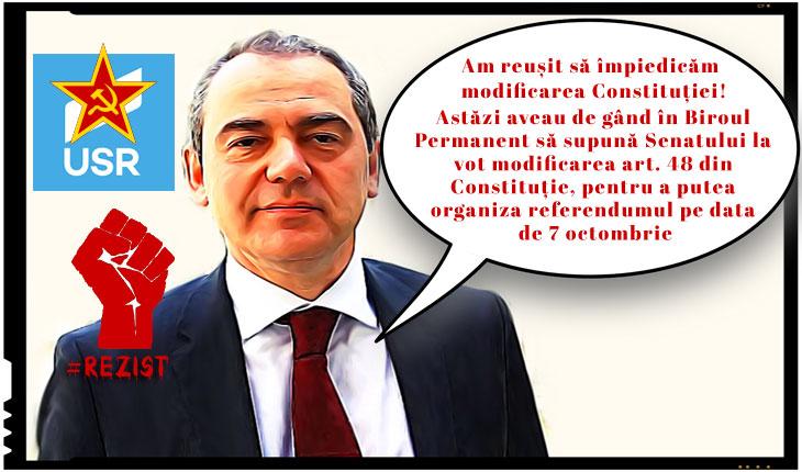 Vlad Alexandrescu, senator USR, se laudă că a împiedicat organizarea referendumului pe data de 7 octombrie!