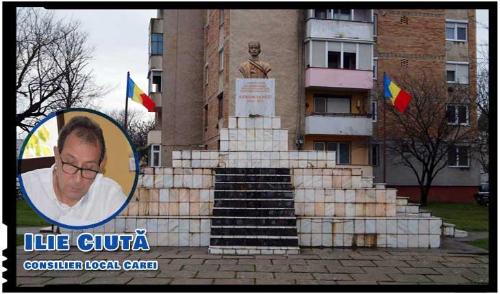 Unui consilier local de la Carei i s-a refuzat dreptul de a depune un proiect de hotărâre cu privire la reabilitarea soclului pe care este amplasat bustul lui Avram Iancu?