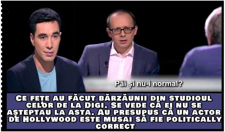Propaganda de la DIGI pusă în dificultate și speriată de declarația de normalitate a actorului Marcel Iureș, Foto: captura TV DIGI 24