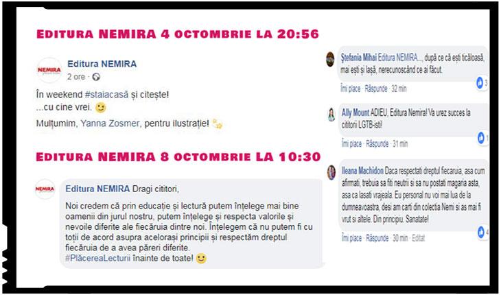 Exclusiv! După ce a instigat la boicot, Editura Nemira are parte de efectul bumerang!