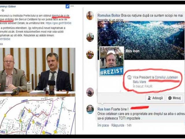 Încă o dovadă a trădării Rezist: vicepreședintele CJ Satu Mare îi cântă în strună primarului UDMR-ist care vrea să dea nume ungurești străzilor, Foto: facebook
