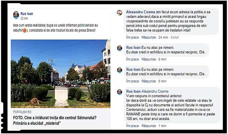 Reacția unui sătmărean față de poziția vicpreședintelui CJ Satu Mare în scandalul dezinstalării troiței românești