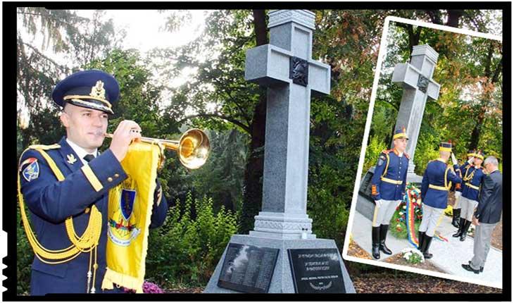 În oraşul Worms din Germania a avut loc inaugurarea Monumentului eroilor români din Primul Război Mondial, Foto: Facebook / Oficiul National pentru Cultul Eroilor