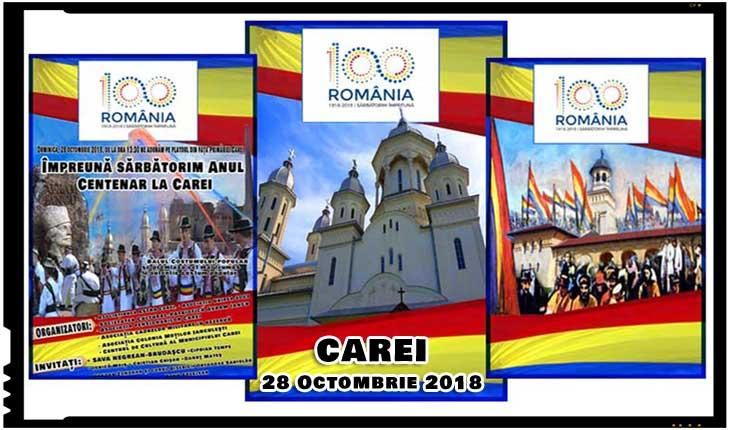 Centenarul Marii Uniri sărbătorit la Carei printr-un eveniment de excepție pe 28 octombrie