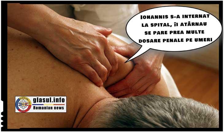 Iohannis s-a internat la spital, îi atârnau se pare prea multe dosare penale pe umeri...