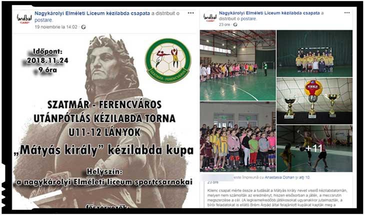 """Deznaționalizarea continuă: la un liceu teoretic din Carei elevilor le sunt """"servite"""" anunțuri scrise numai în limba maghiară, Foto: captura facebook"""