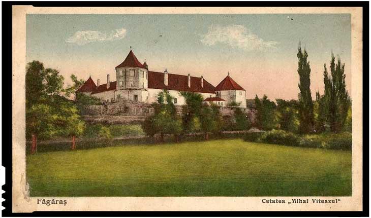 """Cetatea Făgărașului (imagine interbelică) - Cetatea """"Mihai Viteazul"""""""