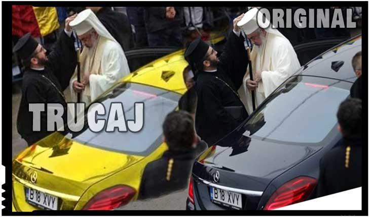 Încă un fake news marca Irealitatea TV demontat: mașina folosită de Patriarhul Daniel