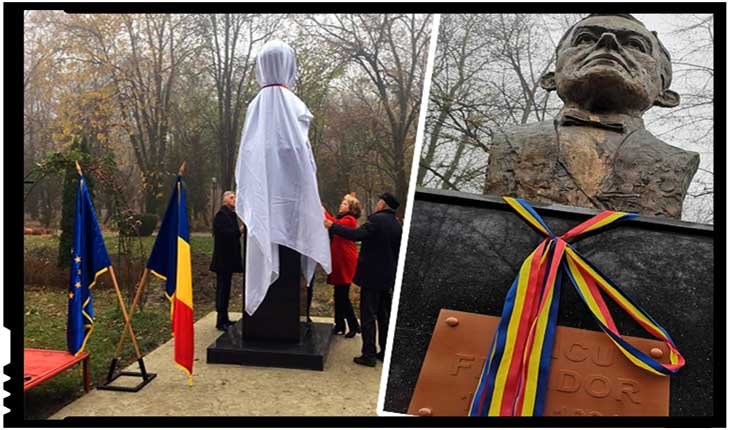 Aleea Fauritorilor Marii Uniri din parcul Constantin Stere s-a îmbogățit cu bustul lui Iancu Flondor, Foto: facebook.com/ludmila.sfirloaga