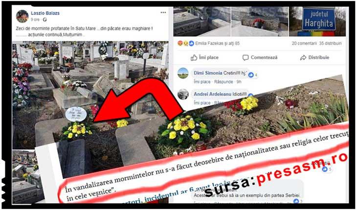 Dezinformare și instigare la ură după profanarea unor morminte la Satu Mare, Foto: presasm.ro