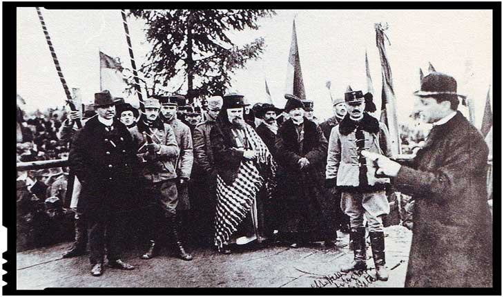 """Cuvântarea istorică a Mitropolitului Miron Cristea la Marea Adunare de la Alba Iulia: """"Nu putem și nici n-am avea lipsă să rătezăm Carpații, căci ei sunt și trebuie să rămână și în viitor inima Românismului"""""""