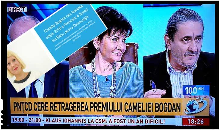 """PNȚCD cere retragerea premiului Cameliei Bogdan: """"Cei doi fii ai lui Ion Rațiu l-au dezonorat pe tatăl lor prin acordarea premiului"""", Foto: facebook.com/PNTCD.Iasi.oficial & ratiudemocracycenter.org"""