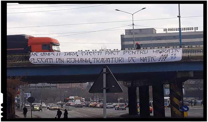 """Se înmulțesc reacțiile împotriva Pactului pentru migrație: """"Ne vindeți țara, faceți pact pentru migrație"""", Foto: facebook.com/peluzasudcraiova1997"""