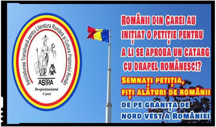 Românii din Carei au inițiat o petiție pentru a li se aproba un catarg cu drapel românesc!?