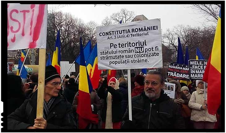 Sute de români au protestat la București împotriva Pactului pentru migrație, Foto: facebook.com/Buciumul.ro