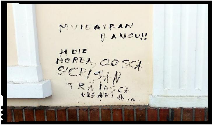 """Memoriu în legătură cu vandalizarea Casei Memoriale """"Avram Iancu"""" din Târgu Mureș: """"Înjurătura antiromânească este tot acolo"""", Foto: facebook.com/bogdanvasiledesprevremuri"""
