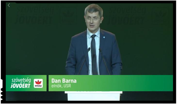 Dan Barna la Congresul UDMR, foto: facebook