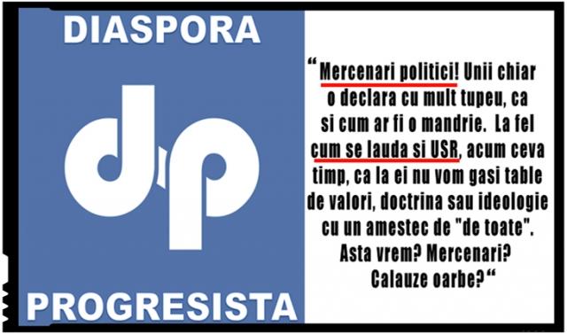 Progresiștii din diaspora întorc armele împotriva USR: Despre bucuria nemarginită a celor de la USR, PNL și a altora, îmbâcsiți moral, de a participa la congresul UDMR, nu mai e nimic de comentat!, Foto: facebook.com/diasporaprogresista.eu