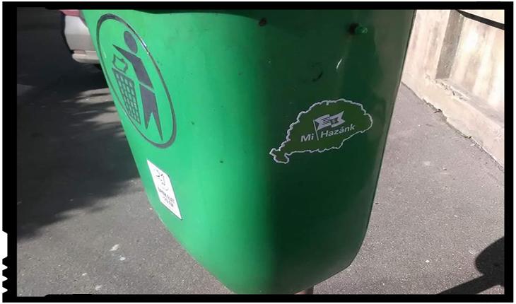 """Iredentiștii ungurii si-au aruncat """"Patria"""" în coșurile de gunoi ale sătmărenilor?, Foto: facebook.com/zimbru.ovidiu"""