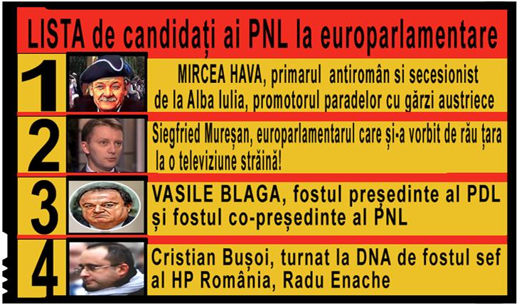 Listă horror din partea PNL pentru europarlamentare? Cel puțin capii de listă...